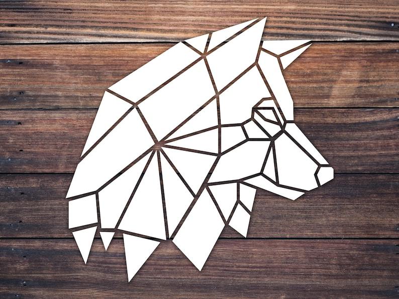 Geometric Origami Husky Wolf Head Decal Sticker / Geometric Mandala Animal  Decal / Adventure Wildlife Decal / Wall Car Truck Cup Window