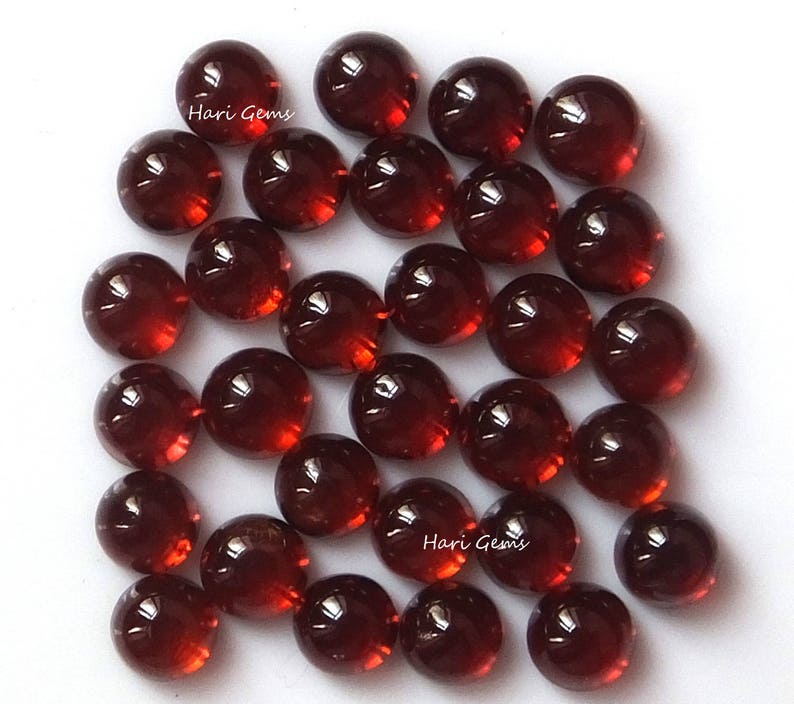 10 pieces 6mm Red garnet cabochon round wholesale natural garnet round cabochon loose gemstone calibrated size red color gemstone lot