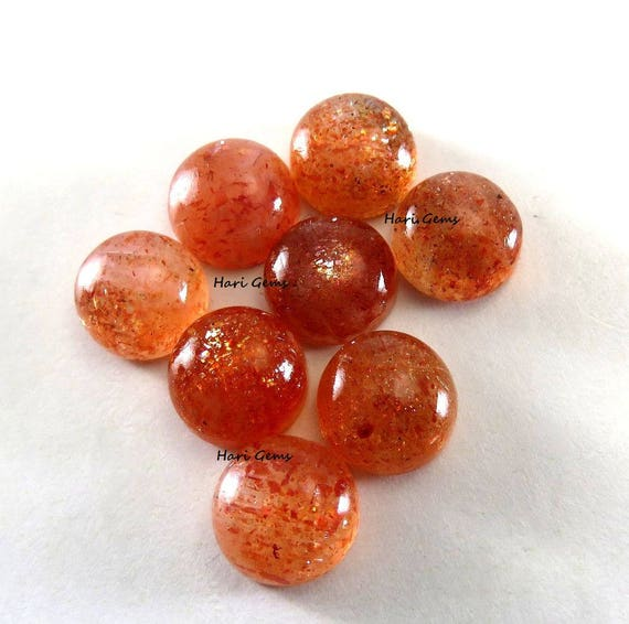 Sunstone Marquise Cabochon Loose Gemstones Set of 2 1A Quality 10x5mm TGW 2.10 cts.