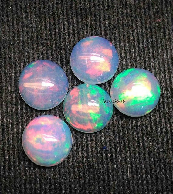Welo Opal 6mm Calibrated Ethiopian Opal Cabochon 10 Pieces Round Shape Cabochon