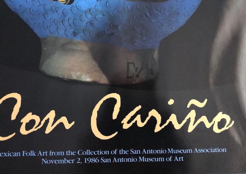 Con Cari\u00f1o Vintage San Antonio Exhibition Large Poster Mexican Folk Art
