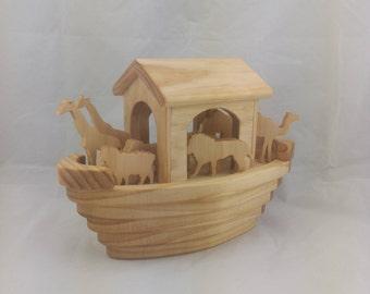 Wooden Noah's Ark Toy Set