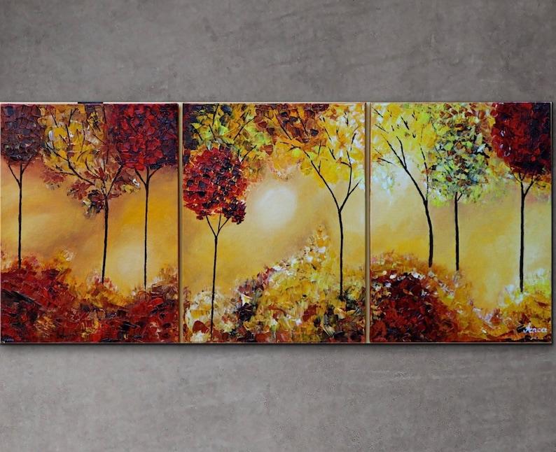 Quadro autunno paesaggi dipinti ad olio astratta arte della etsy