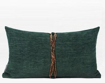 Green Xmas Throw Pillow Cases