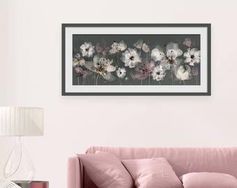 Floral Art Print. Flower Print. Flower Painting. Floral Painting. Floral Blush Print. Wall Art. Wall Decor
