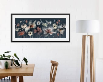 Floral Art Print. Flower Print. Flower Painting. Floral Painting. Coral Flowers. Wall Art. Wall Decor