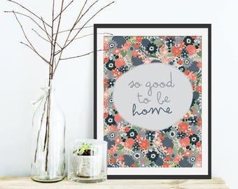 Typography Print. Typographic Print. Typography Gift. Quote Print. Floral Print. Green Lili. Wall Art. Housewarming Gift. Interiors.