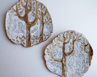 "Wall plates ""In the forest"""