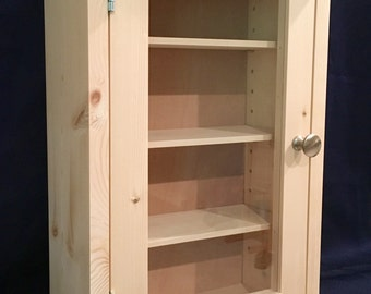 Unfinished, Glass-Door, Cabinet