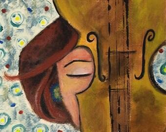 Violin like a sword, 23 cm X 31 cm, print art, limited edition, wall art