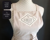Custom linen apron with h...