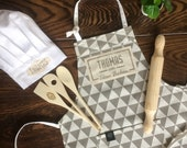 Custom Star Baker apron and baking set for the whole family! For Mom and Dad and the kids! A prefect family gift for a housewarming.