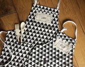 Custom head chef sous chef aprons and baking set for the whole family! For Mom, Dad and the kids! A prefect family gift for a housewarming