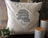 Luxury velvet holiday pillow with nostalgic Santa Claus quote graphic, classy and chic Christmas decor in high quality velvet