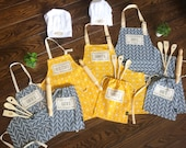 Children custom apron and baking set for the whole family!For boys and girls as well as Mom and Dad! A prefect family gift or for a birthday
