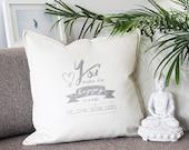 Throw pillow with love de...