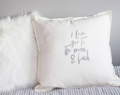 pillow with love declaration. Unique handprinted gift for Valentine, an anniversary, a birthday or simply show your love,… C21