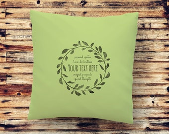 YOUR TEXT on this beautiful cushion or fabric Art print to be framed. Perfect personal gift! Handprinted with original graphic design.