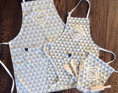 Stylish custom Name apron for father and son, as well as mother and daughter. An Ideal gift for the whole family, as housewarming detail,...