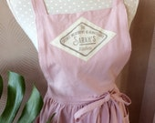 Mother daughter farmhouse apron customized with name, handprinted name, vintage style! A prefect gift for mum, granny, daughter