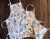 Kids custom apron and backing set for the whole family! For boys and girls! A prefect family gift for a housewarming, birthday..