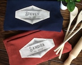 The Cook The Taster aprons, handprinted! A prefect customised couple gift for an anniversary, valentines, wedding, housewarming, ...