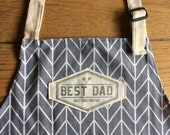 BBQ apron for the best dad or customized with your name! For the best BBQ master! A prefect gift for birthdays, housewarming, retirement ..
