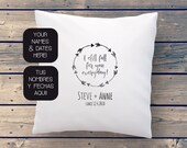 Anniversary pillow with p...