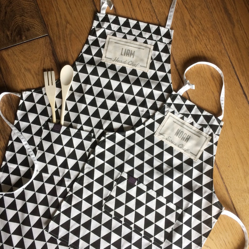 Custom head chef sous chef aprons and baking set for the whole image 0
