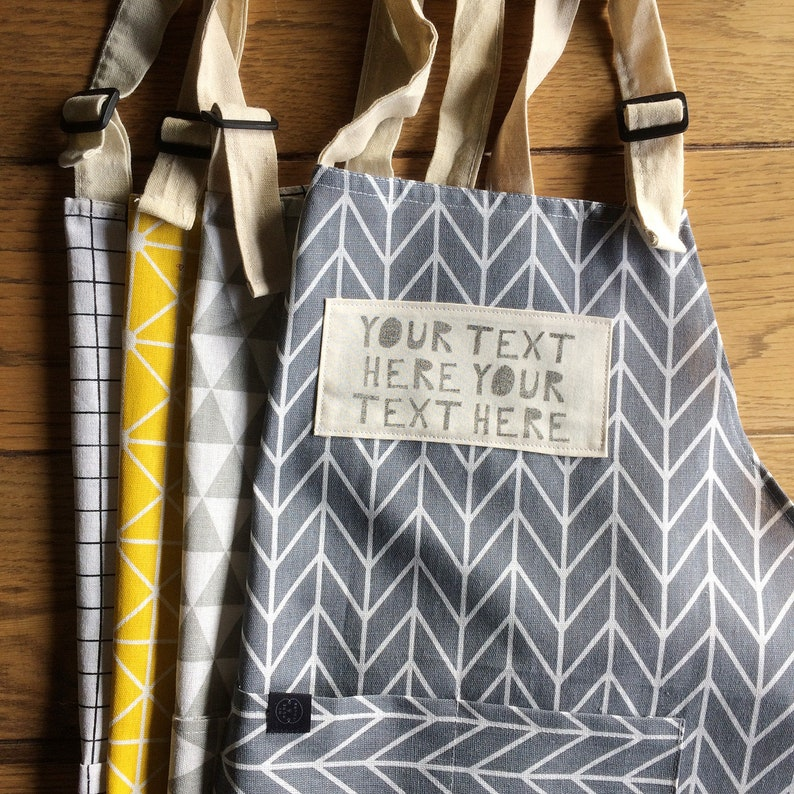 Your words here apron with your own handprinted text or image 0