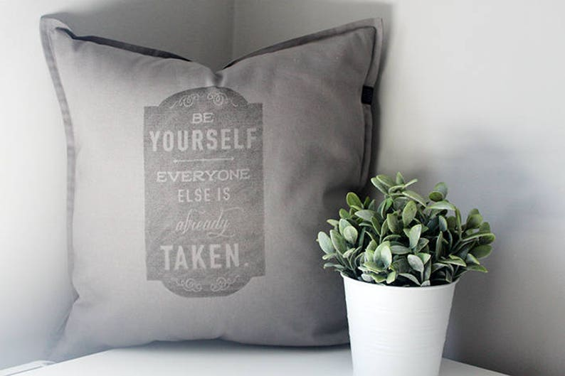Original hipster quote cushion. Perfect gift for a image 0