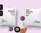 Customized pillow set wit...