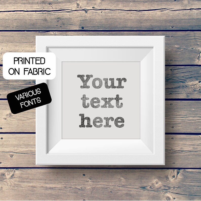 YOUR TEXT HERE  Art print with your custom text handprinted image 0