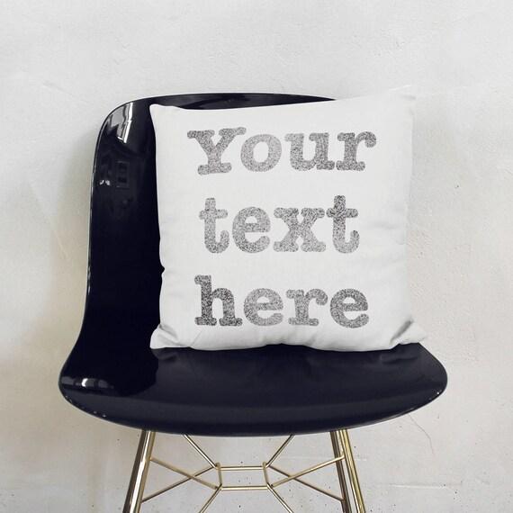 dein text hier kissen personalisiert mit namen spr chen etsy. Black Bedroom Furniture Sets. Home Design Ideas