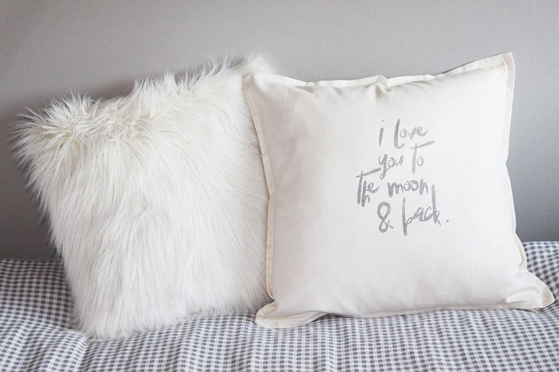 pillow with love declaration. Unique handprinted gift for image 0