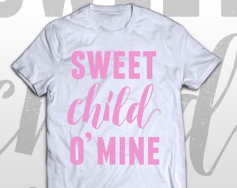 Guns N' Roses T-shirt - Sweet child O'mine -  kids graphic cotton tee - cute gift idea - fast delivery