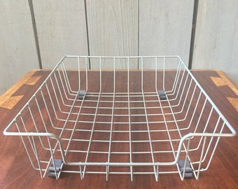 Stacking Wire Basket Office Industrial Decor In Out Metal Bin