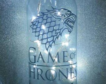 Game of Thrones themed light up bottle