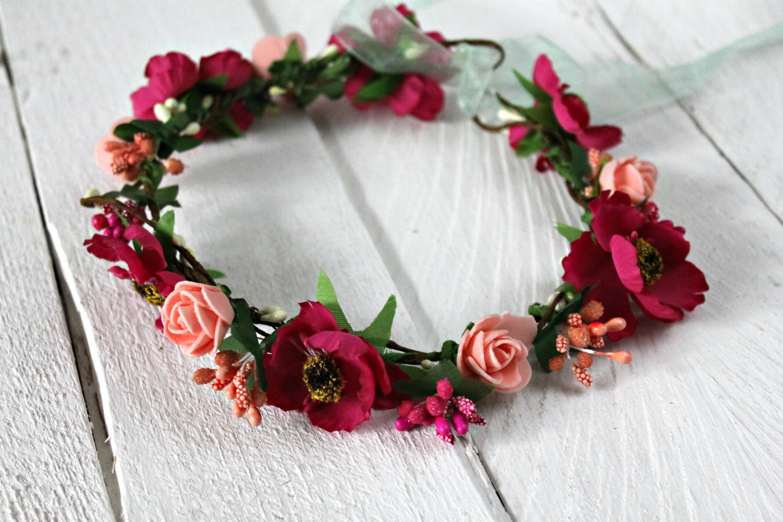 Fairytale gift wedding flower crown bridal floral crown flower etsy image 0 izmirmasajfo