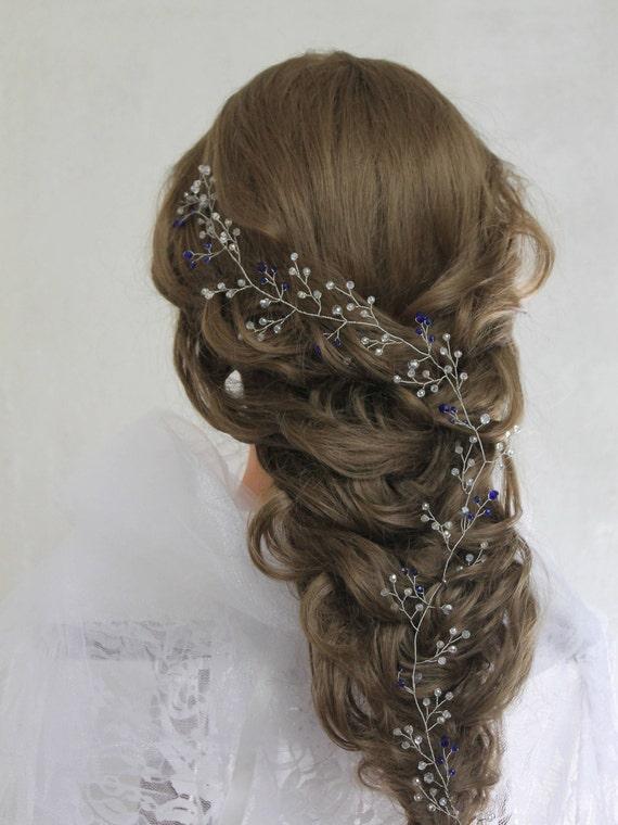 Prom Hair Headband Bridal Wreath Halo Silver Headpiece Wedding Etsy