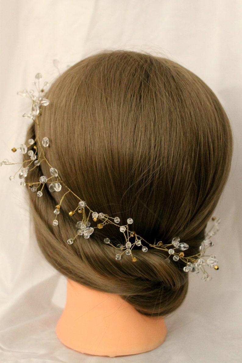 Bridal Vine Bridal Veil Bridal diadem Wedding band bridal headpiece bridal hair piece Bridal Hair Vine bridal headband wedding headpiece