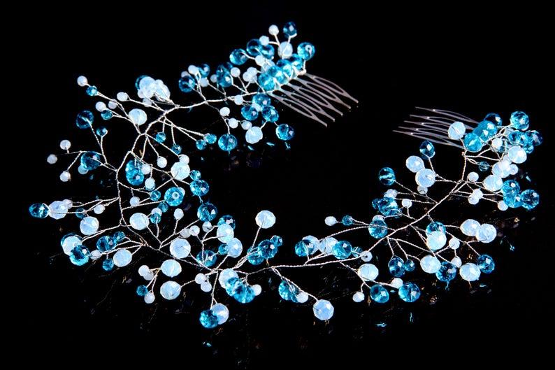 Bridal Wedding Headband Bridal Headpiece Hairpiece Bridal Hair Vine Bridal Wreath Bridal Tiara Diadem Crystal wreath Crystals headband