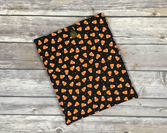 Candy Corn Book Sleeve with Pockets