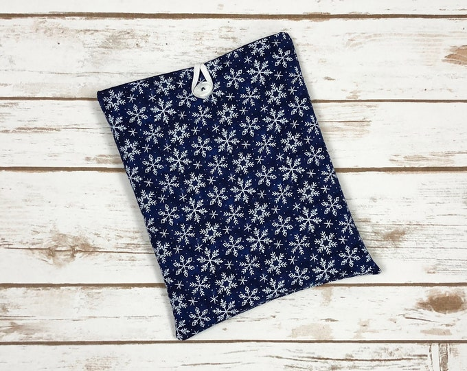 A Snowy Night Book Sleeve with Pockets
