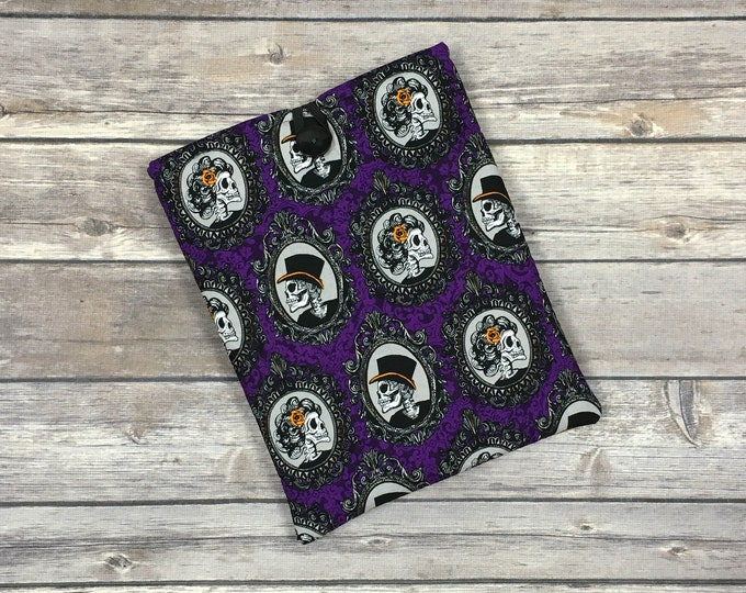 Fancy Skeleton Portraits Book Sleeve with Pockets