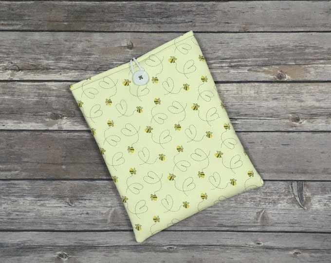Bee Happy Book Sleeve with Pockets