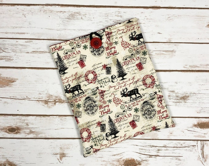 A Vintage Christmas Book Sleeve with Pockets