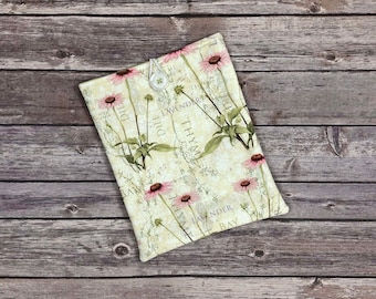 Flowering Herbs Book Sleeve with Pockets