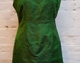 1960s Shantung raw silk suit. UK size 8