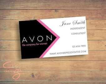 Avon business cards etsy avon sales representative business card digital design customized reheart Images